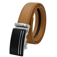 Men S Belts For Business Man Strap Real Leather Automatic Ratchetable Good Quality New Designer Buckles