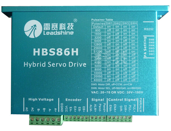 Leadshine HBS86H 2-phase Hybrid Servo Drive 30-90VDC 8.2A Peak for CNC router/3D printer/cnc cutting machine dcs810 leadshine digital dc brush servo drive servo amplifier servo motor controller up to 80vdc 20a new original