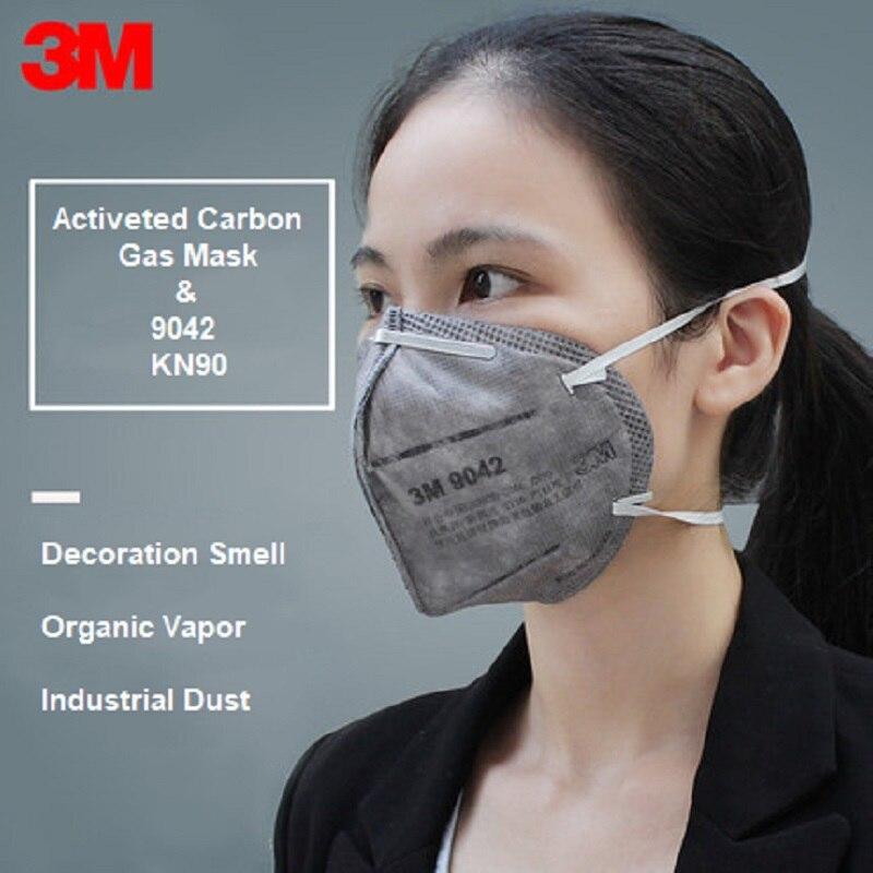 5/10pcs 3M KN90 9042 Gas Protective Mask Activeted Carbon Filter Decoration Anti Vapor Particles Welding Mining