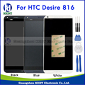 Black White Blue For HTC Desire 816 816G 816H 816W LCD Display Touch Sreen Digitizer Panel Assembly Parts+Bezel Frame Free Tools