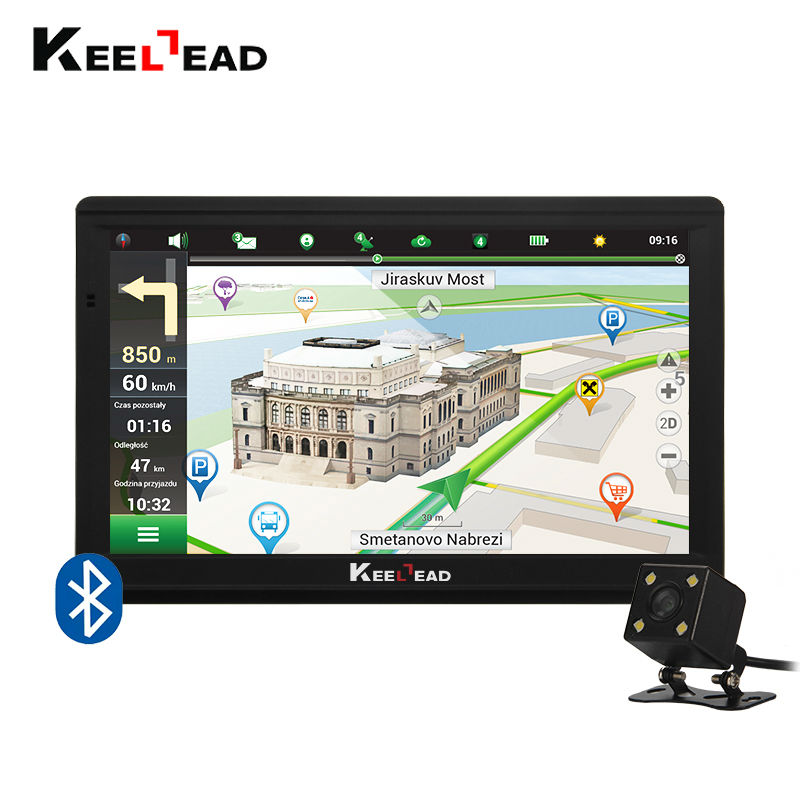 New  Inch Hd Car Gps Navigation M Fmgbmb Newest Map For Russiakazakhstan Europeusacanadaaustralia Truck Navigator