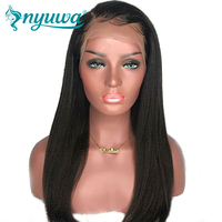 150% Density 13x6 Lace Front Human Hair Wigs NYUWA Pre Plucked Hairline Brazilian Remy Hair Straight Lace Wigs With Baby Hair