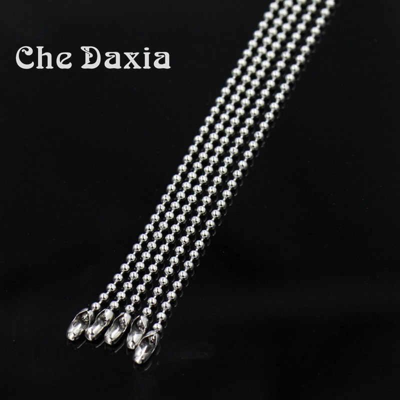 2mm średnicy (z 45/50/55/60/65 CM długości) zroszony naszyjnik z kulkami łańcuchy dla mężczyzn kobiety naszyjnik