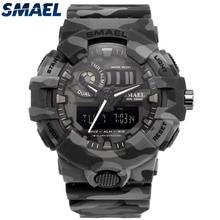 2ec4d525172 Smael Eletrônico Relógio De Quartzo Homens Marca de luxo Militar Relógios  dos homens Do Esporte LEVOU