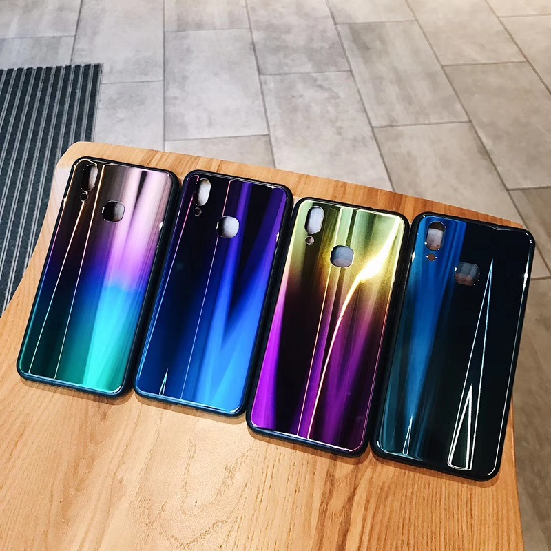 Case For iPhone X 7 8 Plus 6S Cover Laser Aurora Gradient (9)