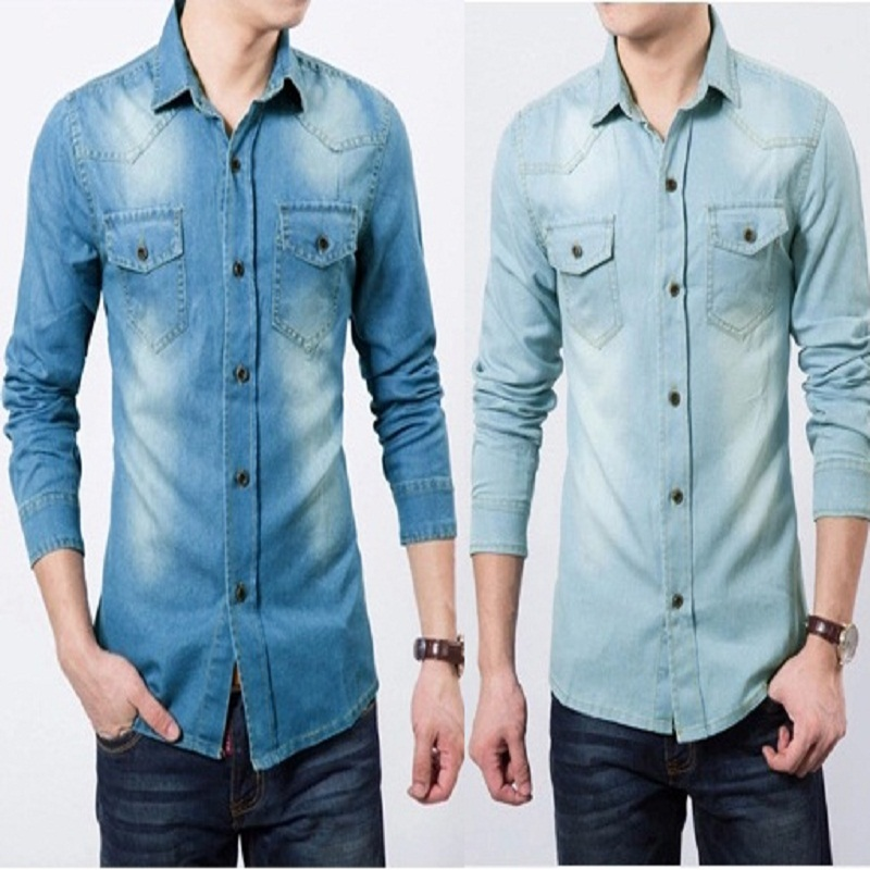 Compare Prices on Mens Jeans Shirt Blue 5xl- Online Shopping/Buy