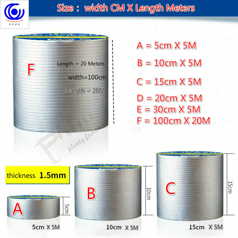 Waterproof Adhesive Tape Leaks Self Adhered Strong Building Roof Coil Crack Gap Seal Sealing Paste Eaves Pipe Cement Wall Ground