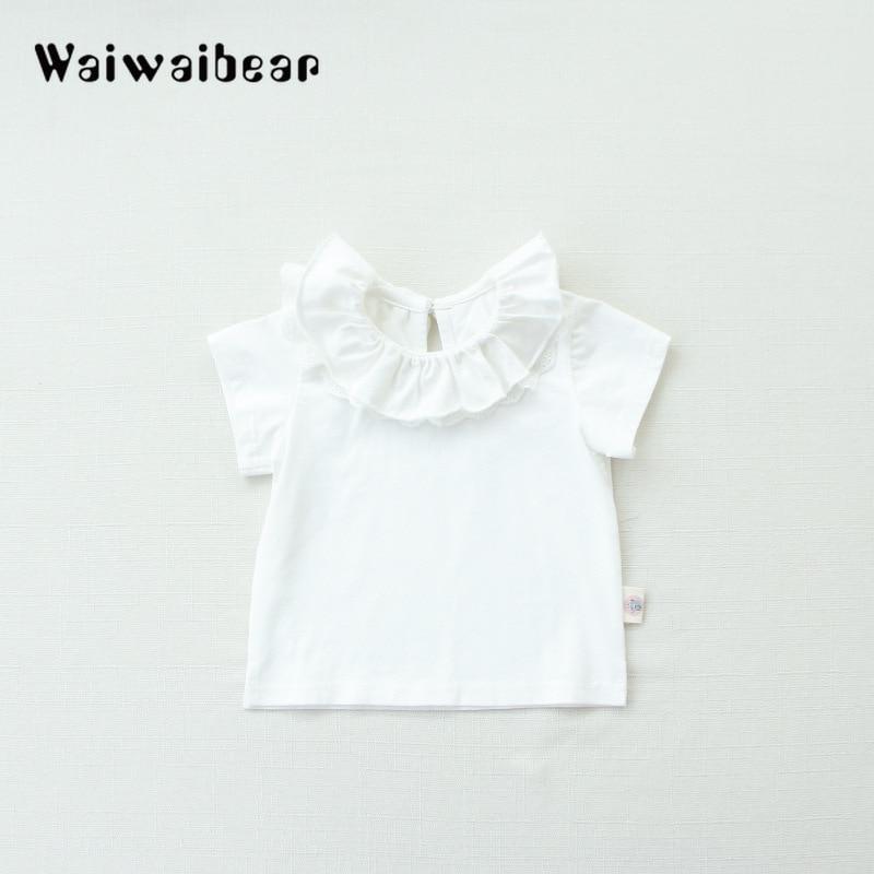 Wysokiej jakości bawełniane koszulki dla dzieci Baby Girl Casual - Odzież dla niemowląt - Zdjęcie 4