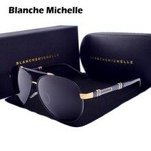 Blanche Michelle Phi Công Kính Mát Nam 2020 Thương Hiệu Gương Kính Chống Nắng Lái Xe UV400 Hợp Kim Gafas De Sol Oculos Có Hộp sunglasses men sunglass sun glasses