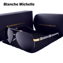 Blanche Michelle Pilot Polarized Sunglasses Men 2020 Brand Mirror Sun Glasses Driving UV400 Alloy Gafas De Sol Oculos With Box