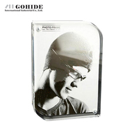 DUH American Style Crystal Transparent Photo Frame 5 6 7 8 Inches Optional Swing Sets Frame Gift Irregular Shape Photo Frame