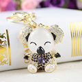 Cute Koala Luxury Keychain Key Chain & Key Ring Holder Keyring Porte clef Gift Men Women Souvenirs Bag Pendant Car