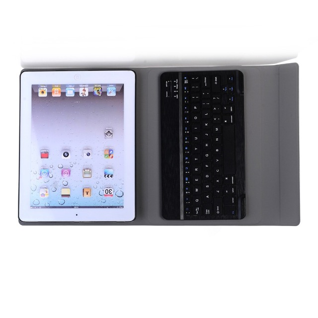 Landas Universal Wireless Bluetooth 3.0 Keyboard For iPad 2 3 Tablet Leather Case For iPad 4 Keyboard Case Cover Tablet A1458
