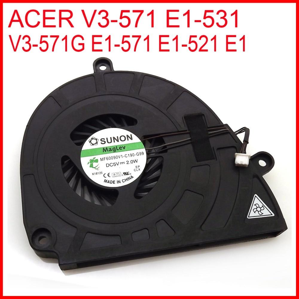 New DC280009KS0 MF60090V1-C190-G99 For ACER V3-571G V3-571 E1-531 E1-571 E1-521 E1 Gateway NV57H NV55S Laptop CPU Cooling Fan
