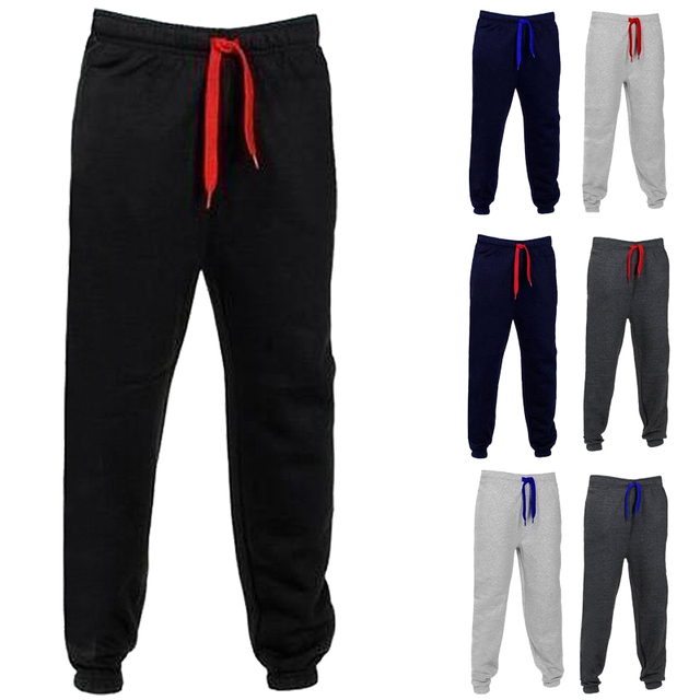 2017 Mens Fashion Warm Sweatpants Sporting Trousers Joggers Long Pants Slim Fitness Leggings Pant Casual Sportwear