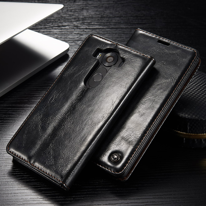 Luxury Coque For Flip Cover LG V10 Case Vintage Leather Wallet Stand Original Mobile Phone Case For LG V10 H968 H900 H901 Fundas