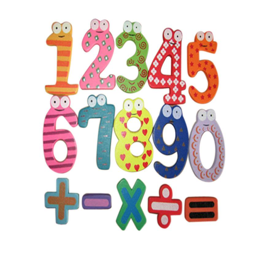 Magnetic Wooden Numbers Math Set Digital Baby Educational