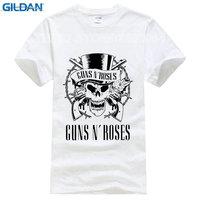 2017 Novo Para O Gráfico Impresso Camiseta T Curto-manga Guns N Roses T-shirt de Slash Appetite For Destruction Rosa para Os Homens