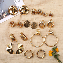 Fashion Gold Ins Earring Women Charms Stud Statement Earrings For Jewelry New Design Ladys Accessories