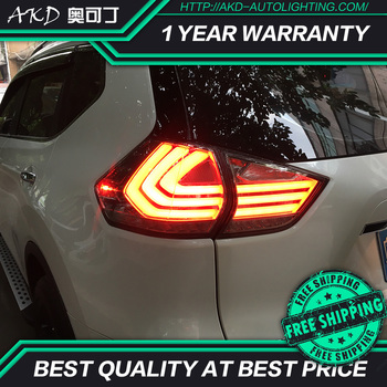 AKD tuning cars Tail lights For Nissan X-trail 2014-2017 Taillights LED DRL Running lights Fog lights angel eyes Rear parking