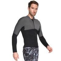 SBART Men 3mm Scuba Diving Suit Jacket Windsurfing Swimwear Boating Snorkeling Fleece Lining Warm Elastic Thick Jacket Wetsuit