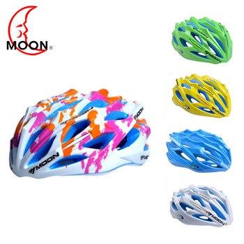 Moon велосипедный шлем Спортивная безопасность велосипедный шлем 55-58 см/58-61 см дорожный горный Сверхлегкий фонарь цветной шлем