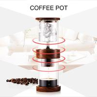 400ml Water Drip Coffee Pot Double Layer Ice Drip Coffee Pot Cylindrical Brewed Ice Cold Coffee Maker Bottle for Home