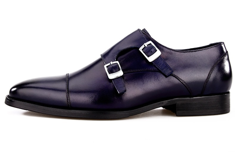 Shoes Sipriks Lucury Grooms Wedding Shoes Double Monk Straps Wine Red Alligator Skin Dress Shoes With Buckles Black Formal Tuxedo Shoe We Have Won Praise From Customers Formal Shoes