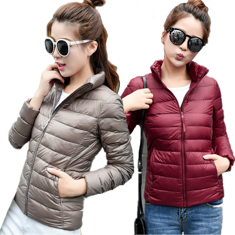 Women Winter Coat 2018 New Ultra Light White Duck Down Jacket Slim Women Winter Puffer Jacket Portable Windproof Down Coat S-6XL