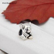 Se adapta a pandora charms pulsera plata 925 lucky elephant original animal granos del encanto para la joyería de las mujeres nuevo regalo