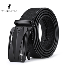 Williampolo 2019 Cow Genuine Leather Men Belt Cowhide Fashion Automatic Buckle Male Original Brand PL18366P
