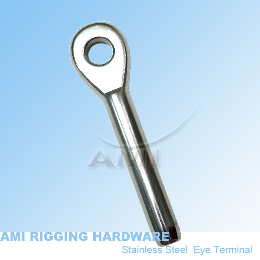 STAINLESS 316 SWAGED EYE TERMINAL TO SUIT 4MM WIRE ROPE