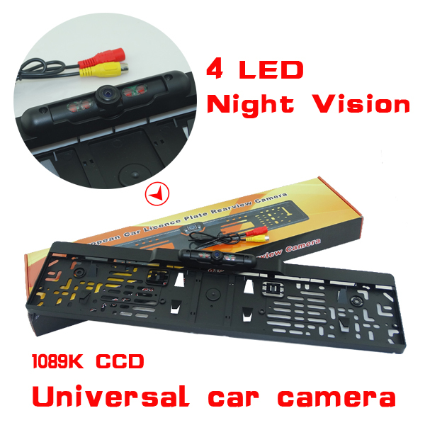 2014 New Arrival EU Russia Car License Plate Frame Rear View Camera For European Cars With