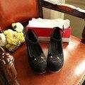 Moda de primavera y otoño niñas cat zapatos de leopardo zapatos de las cuñas individuales zapatos de plataforma zapatos de las mujeres cute cat
