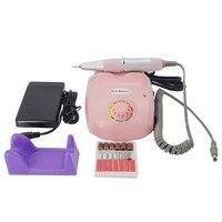 Professional Nail Art Salon Manicure Pedicure Kit 220V Electric Nail Drill File Machine with free shipping