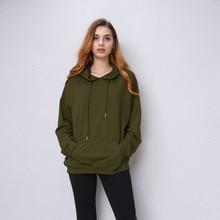 Hoodies Women Camel hooded Sweatshirt Long Sleeve Pullover Loose Casual Hoody Black Green Red