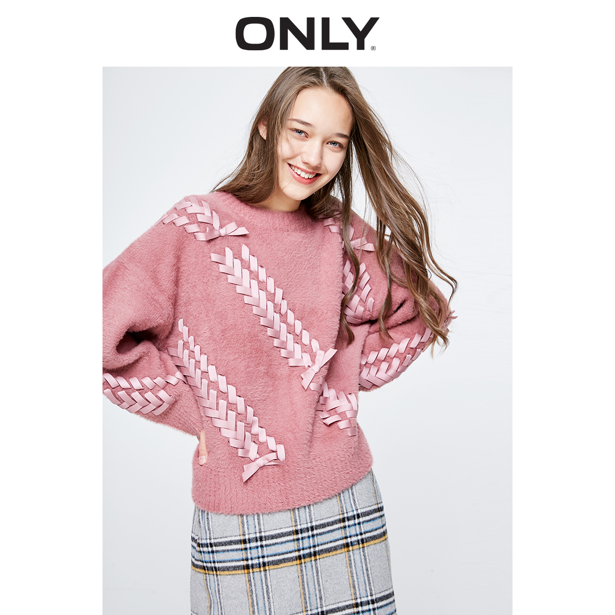 ONLY  Summer New Loose Tie-up Suede Pullover Sweater |  119113536