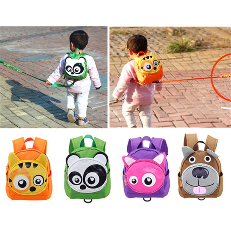 Cute Animals Shape Baby Toddler Safety Harness Leash Tether Anti-Tost Child Modeling Strap Backpack School Bag