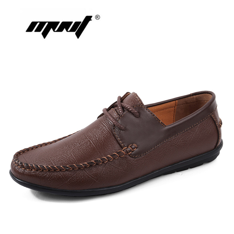 Genuine Leather Men Shoes Fashion Lace Up Walking Shoes For Men Design Breathable Loafers Shoes Handmade Men Flats Shoes top brand high quality genuine leather casual men shoes cow suede comfortable loafers soft breathable shoes men flats warm