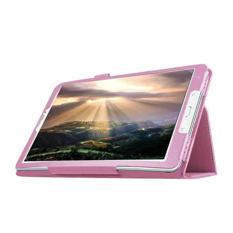 Case Cover UNTUK SAMSUNG TAB E T560 Ltra Tipis PU Kulit Pelindung Case Tablet Penutup 9.6 Datar Pelindung kasus