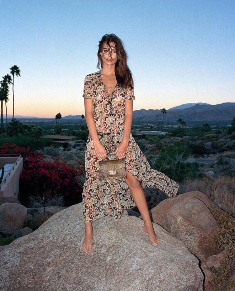 Show V As Picture Manches Femme Cou Carburant Cardigan Conduites Unique En Courtes Imprimer Mousseline Robe Sexy De breasted Fleur Rq3Lj54Ac