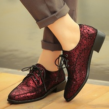 Gray Wine Red Round Toe Crossed Lace-up Medium Thick Heels Womens Singles Shoes 2017 New Fashion All-match Female Footwear