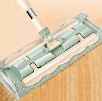 Platte Mop Floor Telescopische Mop 360 Graden Handvat Mop Voor Thuis Keuken Tegels Schoonmaken Spin Mop Roterende Microfiber Swabs