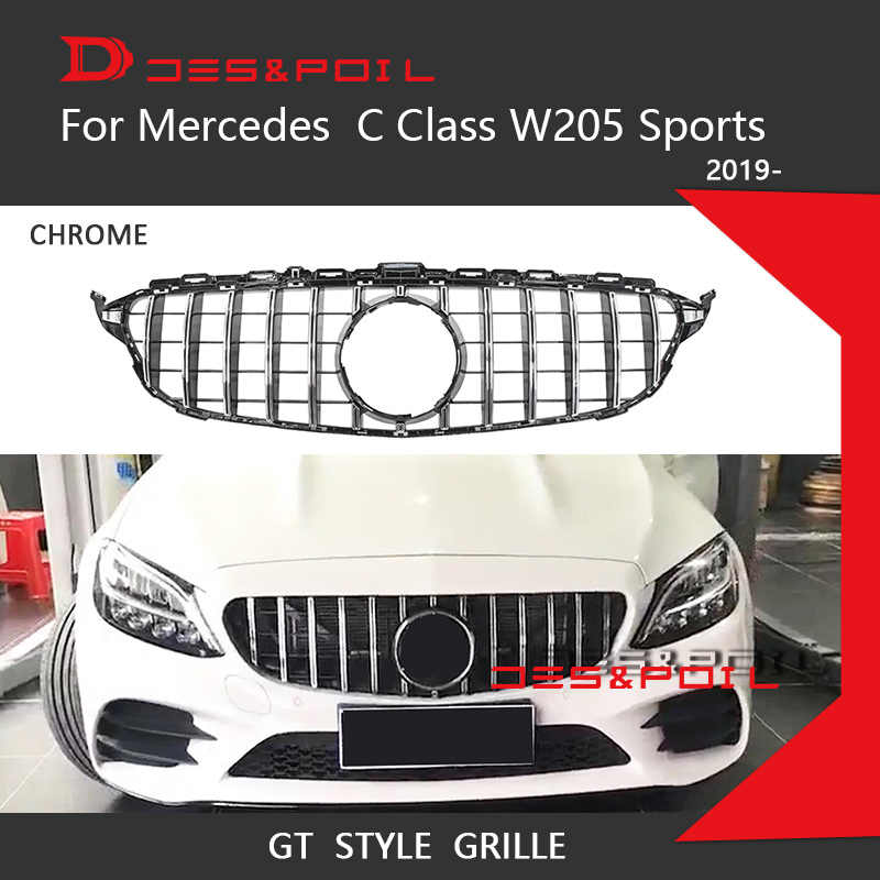2019 New C Class W205 GT Grille Vertical Grill Mesh Grid