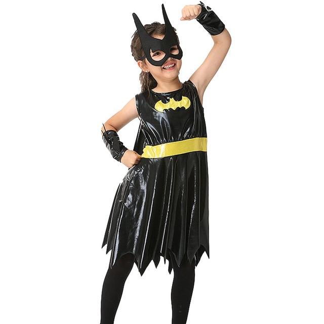 Halloween Costume Kids Girl Batman Dressgogglesglovescloak Cute