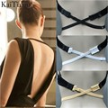 3 Pcs / Lot Fashion Sexy Underwear Back Backless Bra Strap Adapter Converter Extender Hook Black White Beige Low Back Bra Strap