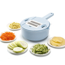 12pcs/set Multifunctional Kitchen Cut Home Portable Cutting Vegetable Washing Draining Practical Manual Food Processors Slicers
