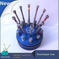 10 pçs/set Assista Chaves de Fenda conjunto de Alta Qualidade 316 # Aço, Relojoeiro reparação relógio chave de fenda com Base Rotativa, Relógio ferramentas