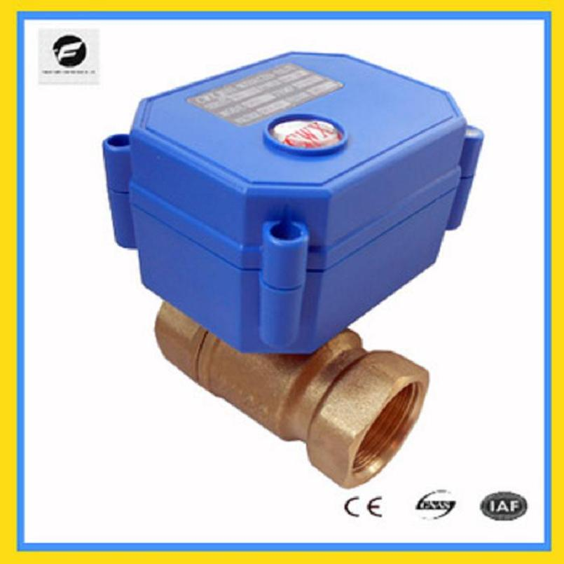 Banjo Electric 3 Way Directional Ball Valve: CWX 15 1/2'' Brass Motorized Ball Valve DC3 6v Electric