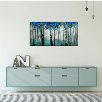 Wall art canvas painting large tree picture suitable for living room abstract decoration modern salon theme hand painted artwork